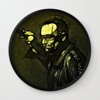 u2 Wall Clocks featuring U2 / Bono 1 by JR van Kampen