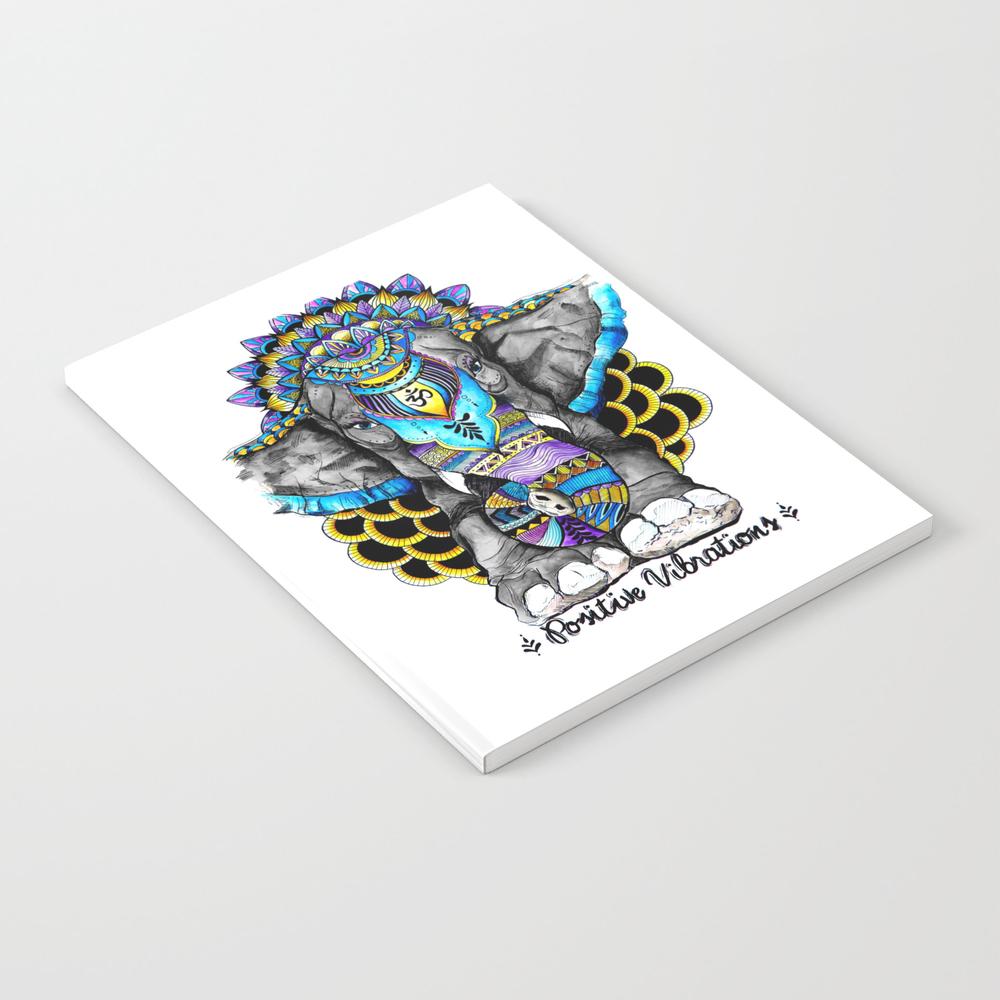 Positive Vibrations Notebook by Heyemilydee NBK9031427