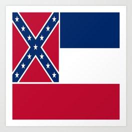Flag of mississippi-flag of mississippi,south,Mississippian,usa, america,jackson,gulfport,Southaven Art Print