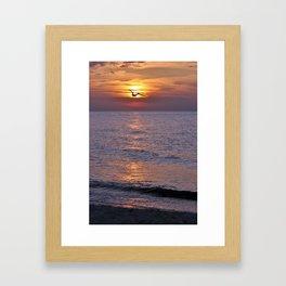 Romantic Sunset Framed Art Print