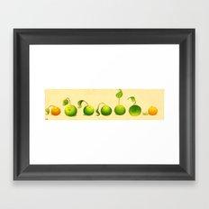Sweet peas Framed Art Print