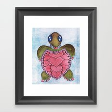 I Heart Sea Turtles Framed Art Print