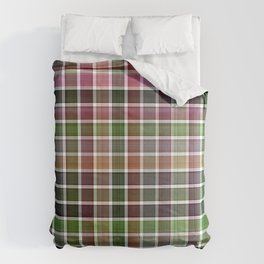 Pink Roses in Anzures 5  Plaid 2 Comforters