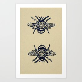 Two Bees Art Print