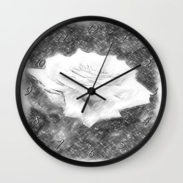Pink Roses in Anzures 3 Charcoal Wall Clock