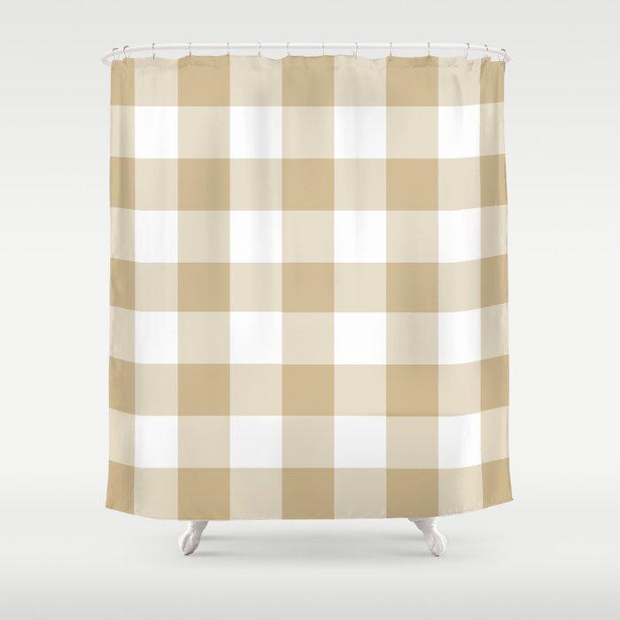 Burlap Buffalo Check Shower Curtain