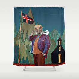 Ermine in the Iceland Shower Curtain