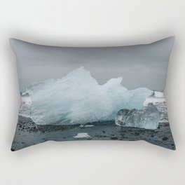 Diamond Beach, Merritt Island, Iceland Rectangular Pillow