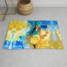 Iced Lemon Drop Abstract Art By Sharon Cummings Rug