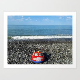 Postcard from the sea Art Print