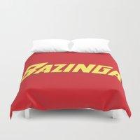 bazinga Duvet Covers featuring The Bazinga by thom2maro