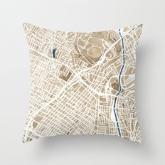 Los Angeles California City Map Throw Pillow