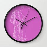 vampire weekend Wall Clocks featuring Spring Breakers/Vampire Weekend (Pink) by Blake Holland