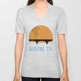 Austin Texas Bat Bridge Unisex V-Neck