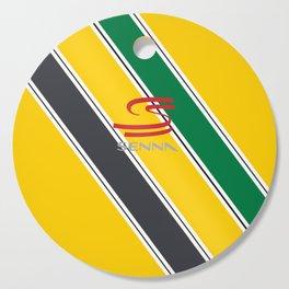 Ayrton Senna Stripes Logo Cutting Board