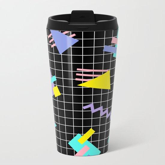 Memphis pattern 7 Metal Travel Mug