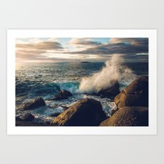Perfect Wavebreak Art Print