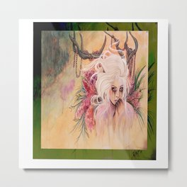 She chewed till she reached her dark Metal Print