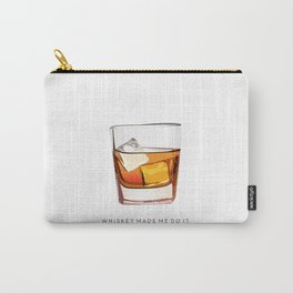 Alcohol Poster,Funny Poster Whiskey Art,Make Mine a Double,Alcohol Gift,Whiskey Cocktail,Inspiring Carry-All Pouch