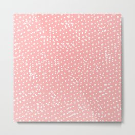 Dotted - Coral Metal Print