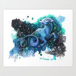 Capricorn the Sea Goat- Zodiac Art Print