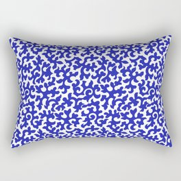 ACROSS TIME, ORNAMENTAL VINTAGE: BLUE and WHITE Rectangular Pillow