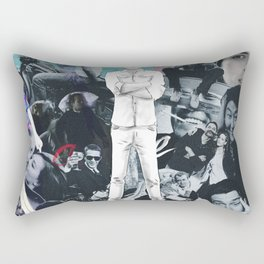 WHITE COLLAGE | Classic and Modern MOVIE Stars | digital Painting | Collage,digital print,art,poster Rectangular Pillow
