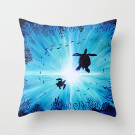 Turtle Tempo Throw Pillow