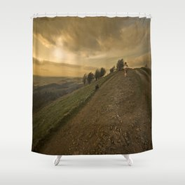 Wuthering hills Shower Curtain