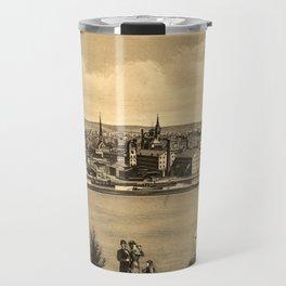 Vintage Pictorial Map of New Brunswick NJ (1880) Travel Mug