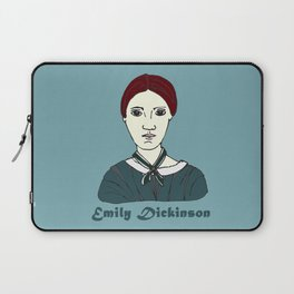 Emily Dickinson, hand-drawn portrait Laptop Sleeve