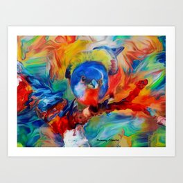 Colorful Songs Art Print