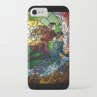 korrasami iPhone & iPod Cases featuring Korrasami - Fighting Duo by Louise Novembre