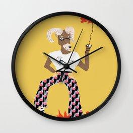Sassy Aries Wall Clock