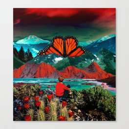 Butterfly mountain Canvas Print