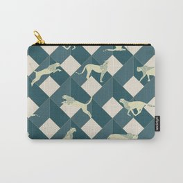 Geometric Safari Wild Leopard Animal Carry-All Pouch