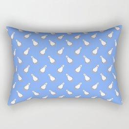 Teagull Pattern Blue Rectangular Pillow