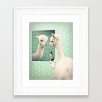 selfie Framed Art Prints featuring SELFIE by Monika Strigel