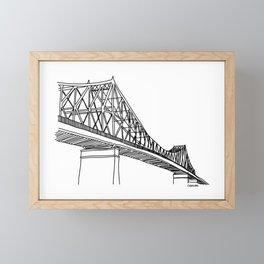 Montreal - Pont Jacques-C - Black Framed Mini Art Print
