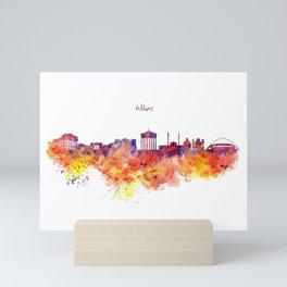 Athens Skyline Mini Art Print