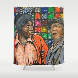 Aunt Esther vs. Fred Sanford Shower Curtain