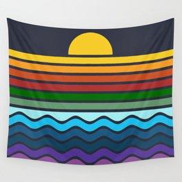 Geometric Rainbow Nature Wall Tapestry