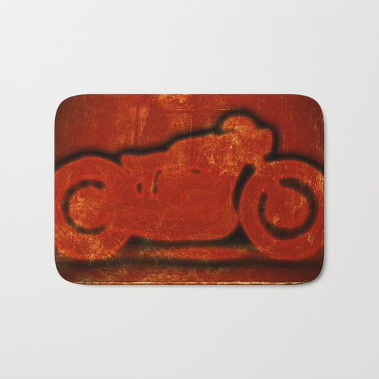Metalic Red Bath Mat