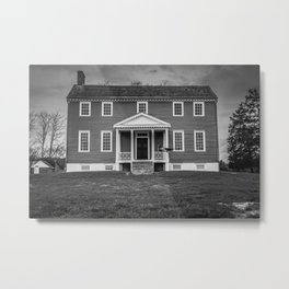 Ellwood Manor Black and White Metal Print
