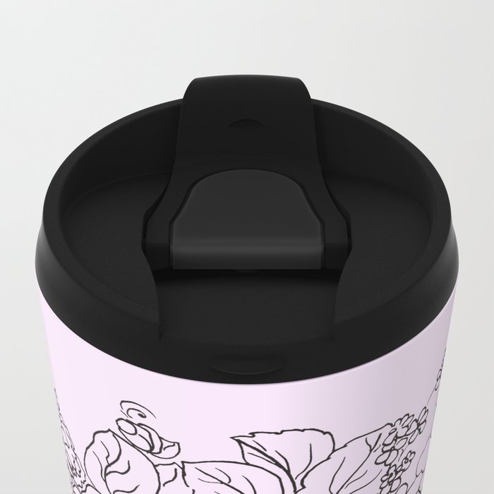 arrangement of flowers and leaves Travel Mug