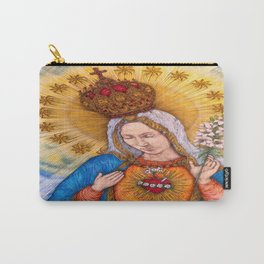 Immaculate Heart Of Virgin Mary Drawing Carry-All Pouch