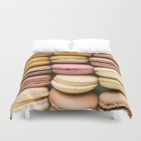 macaron Duvet Covers featuring Macarons I by SouvenirPhotography