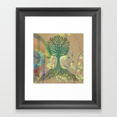 Color My World Green Framed Art Print