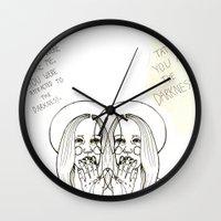 ahs Wall Clocks featuring Violet AHS by Luna Perri