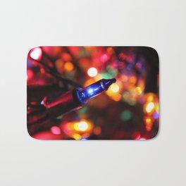 Blue Christmas Light Bath Mat
